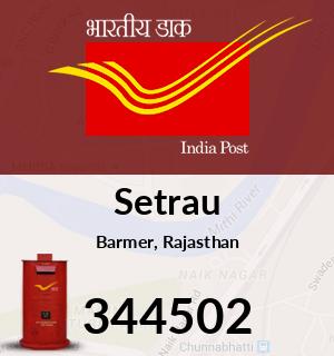 Setrau Pincode - 344502
