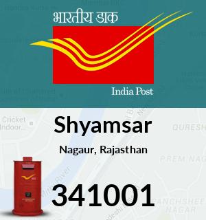 Shyamsar Pincode - 341001