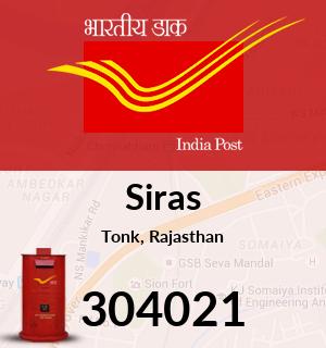 Siras Pincode - 304021