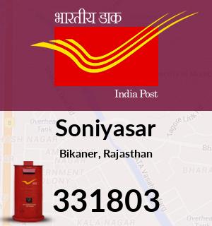 Soniyasar Pincode - 331803