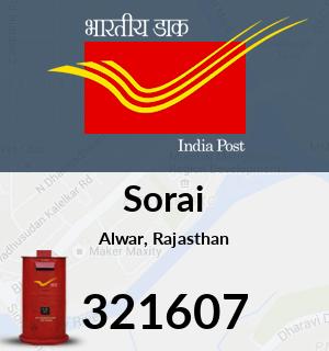 Sorai Pincode - 321607