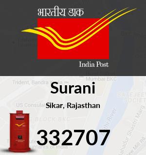 Surani Pincode - 332707