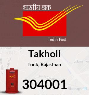 Takholi Pincode - 304001
