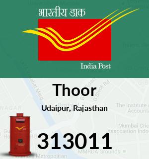Thoor Pincode - 313011