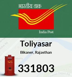 Toliyasar Pincode - 331803