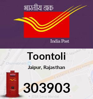 Toontoli Pincode - 303903