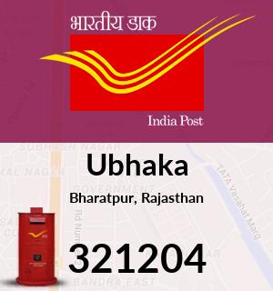 Ubhaka Pincode - 321204