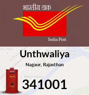 Unthwaliya Pincode - 341001