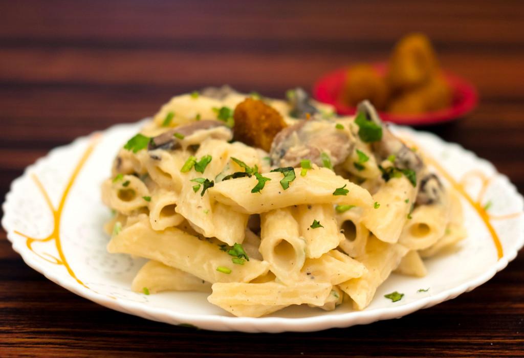 Mushroom Penne Pasta