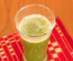 Ginger, Coriander And Cucumber Juice