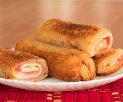 Salami And Cheese Bread Rolls