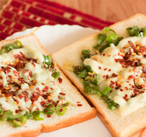 Capsicum Cheese Toast Sandwich