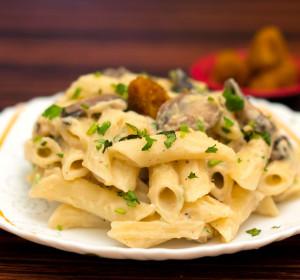 Easy Pasta Recipe| Creamy Garlicky Mushroom Pasta| Healthy Tasty Mushroom Pasta Recipe