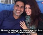 Akshay Kumar turns wife Twinkle Khanna's 'punching bag'