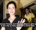 Ananya Panday enjoys movie date with BFF Shanaya Kapoor
