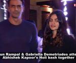 Arjun Rampal, Gabriella Demetriades have a blast as they celebrate first Holi together