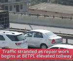 Bengaluru: Ambulance stranded in traffic as repair work begins at BETPL flyover