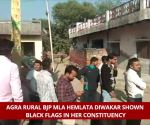 BJP MLA shown black flags in Agra