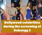 Bollywood celebrities during the screening of Dabangg 3