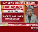 Cong organised EVM hackathon in London, alleges Ravi Shankar Prasad