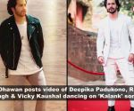Deepika,Ranveer and Vicky Kaushal dance on songs of 'Kalank'