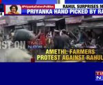 Farmers protest against Rahul Gandhi in Amethi