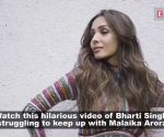 Funny! Malaika Arora teaches Bharti Singh how to pose like a diva