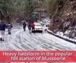 Heavy hailstorm brings life in Mussoorie to an abrupt halt