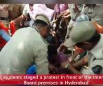 Hyderabad: ABVP stage protest over death of 7 students due to depression over results