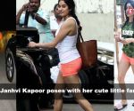 Janhvi Kapoor poses with her cute little fan; 'Dilbar Girl' Nora Fatehi all set to surprise her fans?, and more