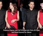 Kareena Kapoor and Saif Ali Khan join Soha Ali Khan and Kunal Kemmu for dinner