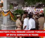 Karnataka: Minister's foul remark leaves Tumakuru SP Divya Gopinath in tears