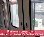 Kolkata: Screen doors installed on Metro platforms to avoid rising suicide attempts