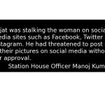 Noida: 24-year-old man held for stalking woman on FB
