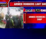On cam: Delhi shopkeeper robbed at gunpoint