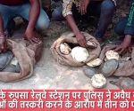 ओडिशा: रेलवे पुलिस ने जिंदा कछुओं की तस्करी करने वालों को किया गिरफ्तार