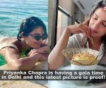 Priyanka Chopra enjoys 'paan' and 'Dilli ki Sardi' with a brown sweater