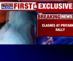 Priyanka Gandhi at UP's Ramnagar: Clashes erupt between Congress and BJP workers