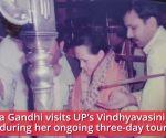 Priyanka Gandhi visits Vindhyavasini temple during her UP tour, following Indira Gandhi's steps