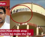 Rajasthan: 3 supporters of Sachin Pilot climb atop water tank, demand Sachin be made the CM
