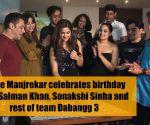 Saiee Manjrekar celebrates birthday with Salman Khan, Sonakshi Sinha and rest of team Dabangg 3