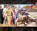 Salman Khan poses with a cute little fan on the sets of 'Dabangg 3'