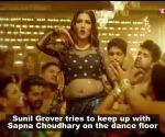 Sapna Choudhary and Sunil Grover shake a leg on 'Teri Aakhya Ka Yo Kajal'