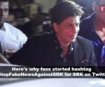 Shah Rukh Khan fans start #StopFakeNewsAgainstSRK after news of him donating money to Pakistan goes viral
