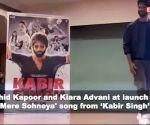 Shahid Kapoor and Kiara Advani at launch of  'Mere Sohneya' song from 'Kabir Singh'
