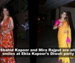 Shahid Kapoor and Mira Rajput set the Diwali mood right as they attend Ekta Kapoor's Diwali bash
