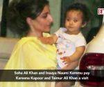 Soha Ali Khan and Inaaya Naumi Kemmu pay Kareena Kapoor and Taimur Ali Khan a visit