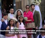 Sushmita Sen's daughter practices her flower girl walk with Rohman Shawl