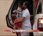 Taimur Ali Khan looks adorable in a ponytail