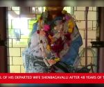 Trichy: Man worships idol of departed wife after 48 years of togetherness